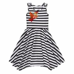 Gymboree striped midi swing dress with sequins